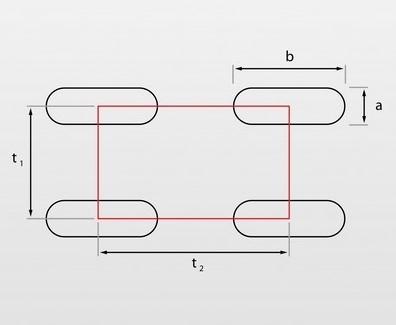 Lg – oczka podłużne układ prosty