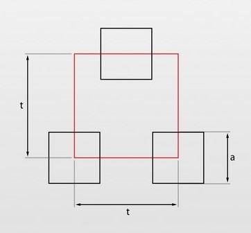 Qv - oczka kwadratowe układ mijany