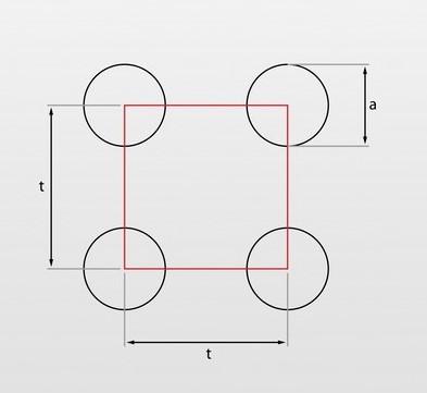 Oczka okrągłe układ prosty